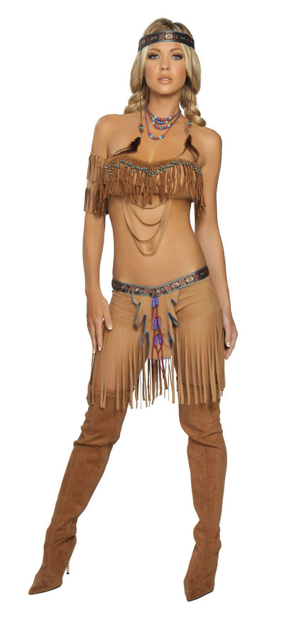 Buy 5Pc Cherokee Warrior from RomaRetailShop for 38.99 with Same Day Shipping Designed by Roma Costume 4205-AS-S/M