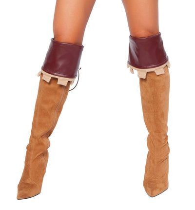 Buy Pair of Brown Boot Cuffs from RomaRetailShop for 5.99 with Same Day Shipping Designed by Roma Costume 4265B-AS-O/S