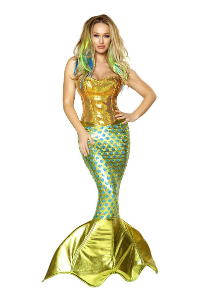 Buy 2pc Siren of the Sea Mermaid Costume from RomaRetailShop for 240.00 with Same Day Shipping Designed by Roma Costume 4352-AS-S