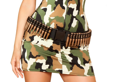 Buy Brown Bullet Belt from RomaRetailShop for 14.99 with Same Day Shipping Designed by Roma Costume 4387-AS-O/S