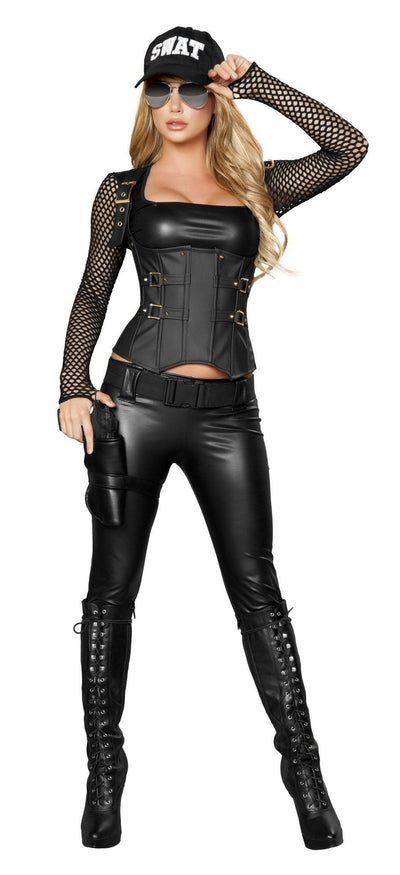 Buy 5pc Sexy SWAT Agent Costume from RomaRetailShop for 118.99 with Same Day Shipping Designed by Roma Costume 4399-AS-S