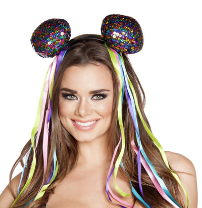 Buy Multi color Sequin Head Piece from RomaRetailShop for  with Same Day Shipping Designed by Roma Costume, Inc.
