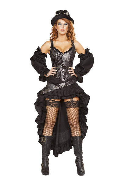 Buy 6pc Sexy Steampunk Maiden Pirate Costume from RomaRetailShop for 177.99 with Same Day Shipping Designed by Roma Costume 4647-AS-S