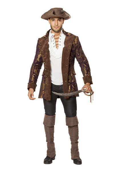 Buy Mens Pirate Jacket Costume from RomaRetailShop for 82.50 with Same Day Shipping Designed by Roma Costume 4650-AS-L