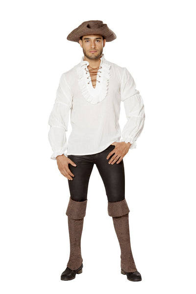 Buy Pirate Shirt for Men Costume from RomaRetailShop for 19.99 with Same Day Shipping Designed by Roma Costume 4651-Ivory-S