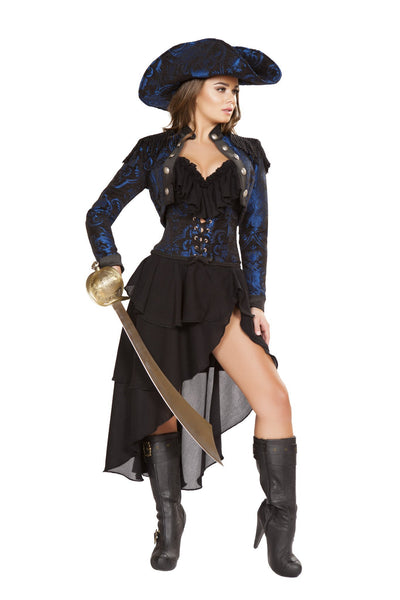 Buy 4pc Captain of the Night Pirate Costume from RomaRetailShop for 149.99 with Same Day Shipping Designed by Roma Costume 4652-AS-S
