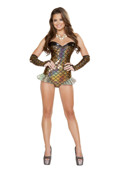 Buy 1pc Gold Mermaid Costume from RomaRetailShop for 24.99 with Same Day Shipping Designed by Roma Costume 4663-AS-S