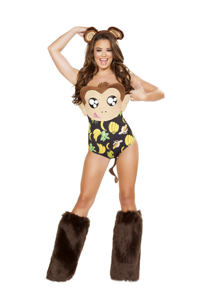 Buy 1pc Banana Loving Monkey from RomaRetailShop for 39.00 with Same Day Shipping Designed by Roma Costume 4714-AS-S/M