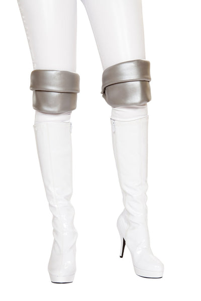 Buy Silver Knee Pads from RomaRetailShop for 4.99 with Same Day Shipping Designed by Roma Costume 4763-AS-O/S