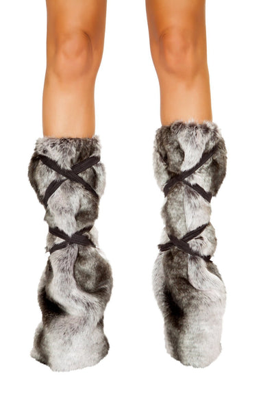 Buy Pair of Strappy Leg Warmers from RomaRetailShop for 27.00 with Same Day Shipping Designed by Roma Costume 4808-Grey-O/S