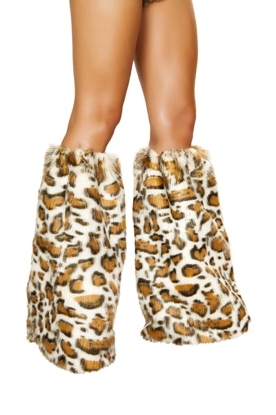 Buy Pair of Leopard Leg Warmers from RomaRetailShop for 27.00 with Same Day Shipping Designed by Roma Costume 4890-AS-O/S