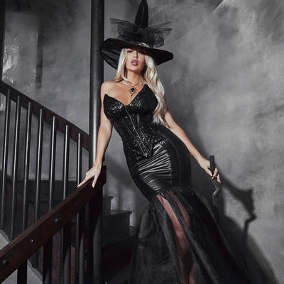 Buy 3pc Witch with An Evil Spell from RomaRetailShop for 109.99 with Same Day Shipping Designed by Roma Costume 4910-AS-S