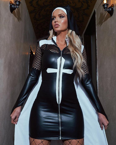 Buy 2pc Nun of the Above from RomaRetailShop for 74.99 with Same Day Shipping Designed by Roma Costume 4914-AS-S