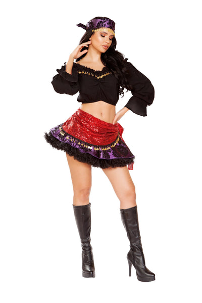 Buy 4pc Traveling Gypsy from RomaRetailShop for 58.99 with Same Day Shipping Designed by Roma Costume 4933-AS-S