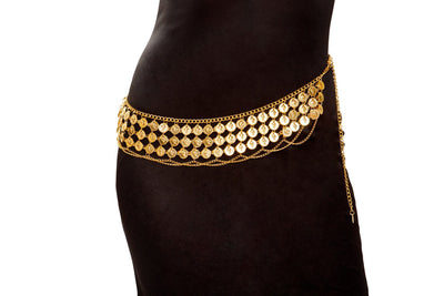 Buy Belly Dancer Coin Wrap from RomaRetailShop for 16.99 with Same Day Shipping Designed by Roma Costume 4959-Gold-O/S