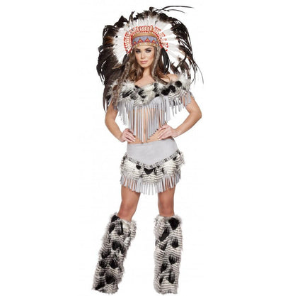 Buy 3pc Lusty Indian Maiden Costume from RomaRetailShop for 89.99 with Same Day Shipping Designed by Roma Costume, Inc. 4582-AS-S