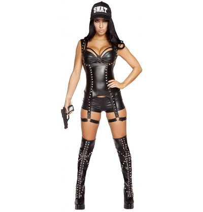 Buy 3pc Seductive SWAT Agent Costume from RomaRetailShop for 109.99 with Same Day Shipping Designed by Roma Costume, Inc. 4587-AS-S