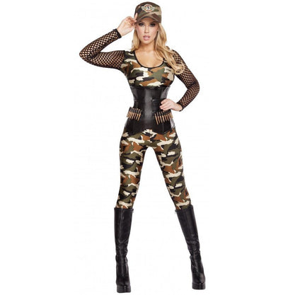 Buy 4pc Lusty Lieutenant Army Costume from RomaRetailShop for 117.99 with Same Day Shipping Designed by Roma Costume, Inc. 4592-AS-S