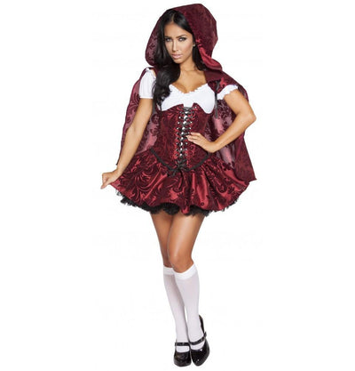 Buy 4pc Lusty Lil' Red Costume from RomaRetailShop for 118.99 with Same Day Shipping Designed by Roma Costume, Inc. 4616-AS-S