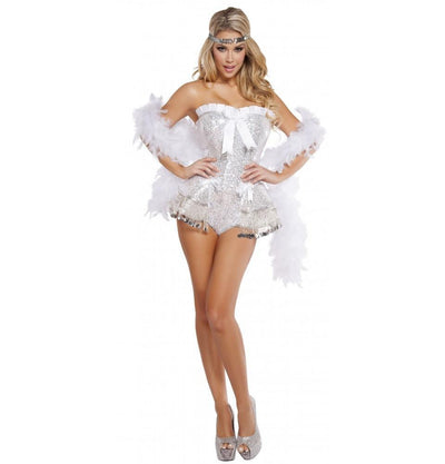 Buy 2pc Flirty Flapper Costume from RomaRetailShop for 69.99 with Same Day Shipping Designed by Roma Costume, Inc. 4622-AS-S