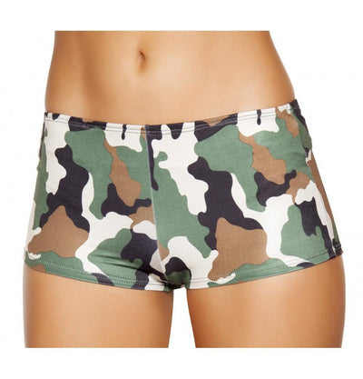 Buy Camouflage Boy Shorts from RomaRetailShop for 14.99 with Same Day Shipping Designed by Roma Costume, Inc. SH225-Camo-S/M