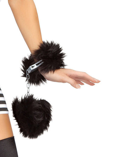 Buy Fur Trimmed Handcuffs from RomaRetailShop for 5.99 with Same Day Shipping Designed by Roma Costume, Inc. CU101-AS-O/S