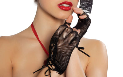 Buy Fishnet Gloves from RomaRetailShop for 4.50 with Same Day Shipping Designed by Roma Costume GLF-Wht-O/S