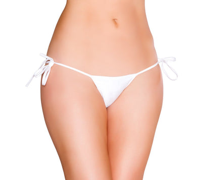 Buy Tie Side GString from RomaRetailShop for 10.00 with Same Day Shipping Designed by Roma Costume GTie-Wht-O/S