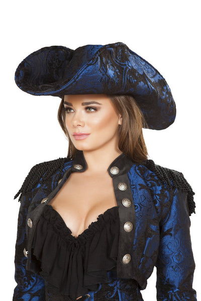 Buy Blue and Black Pirate Hat from RomaRetailShop for  with Same Day Shipping Designed by Roma Costume