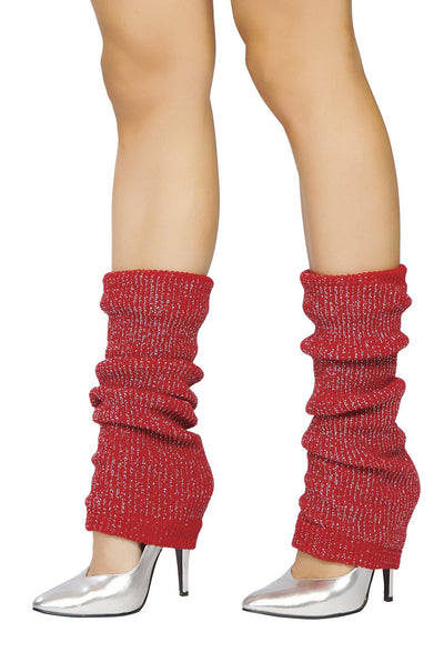 Buy Pair of Leg Warmer with Shiny Detail from RomaRetailShop for 3.99 with Same Day Shipping Designed by Roma Costume LW102-Red/Slvr-O/S