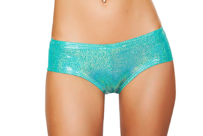 Buy Shiny Shimmer Boy Shorts from RomaRetailShop for 16.00 with Same Day Shipping Designed by Roma Costume SH3327-Aqua-O/S