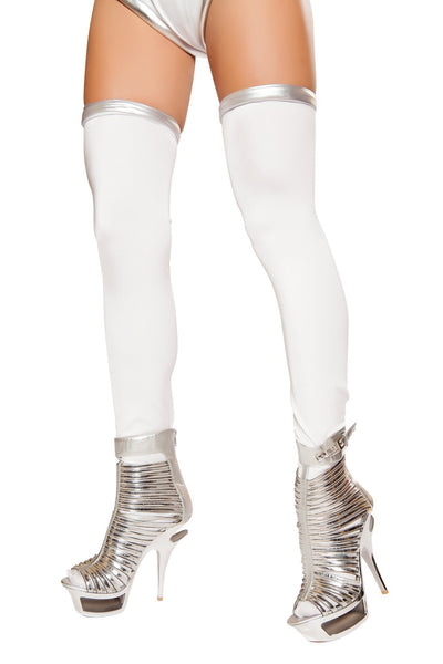 Buy White/Silver Space Commander Leggings from RomaRetailShop for 9.99 with Same Day Shipping Designed by Roma Costume ST10077-AS-O/S