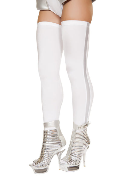 Buy Pair of White Leggings with Silver Metallic Top from RomaRetailShop for 9.99 with Same Day Shipping Designed by Roma Costume ST4736-AS-O/S