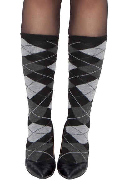 Buy Pair of Gray Argyle Leg Warmers from RomaRetailShop for  with Same Day Shipping Designed by Roma Costume