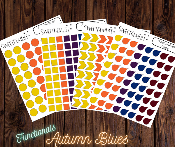 Functional Stickers: Autumn Blues