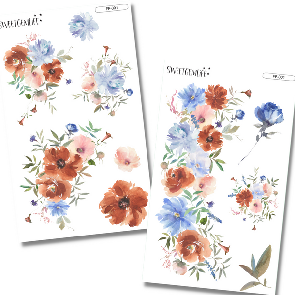 Functional Florals 2-Page Kit: FF-001