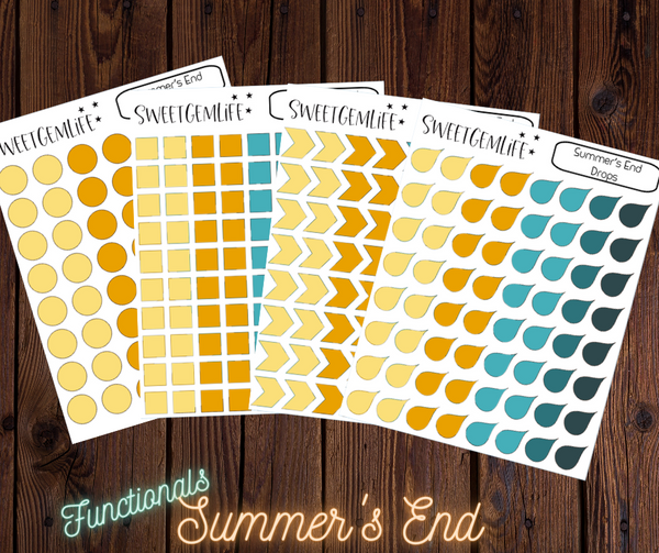 Functional Stickers: Summer's End