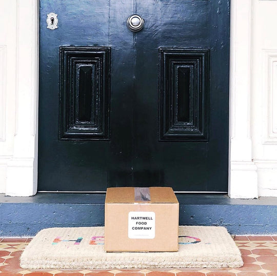 HFC meal delivery box in front of door