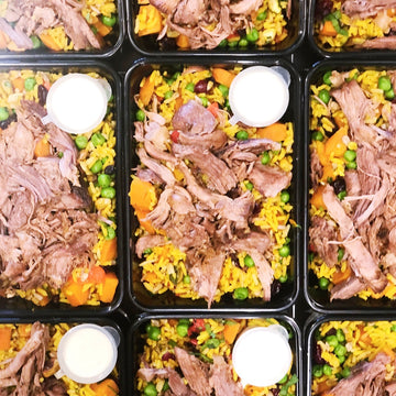 JEWELLED RICE WITH PULLED LAMB & YOGHURT DRESSING