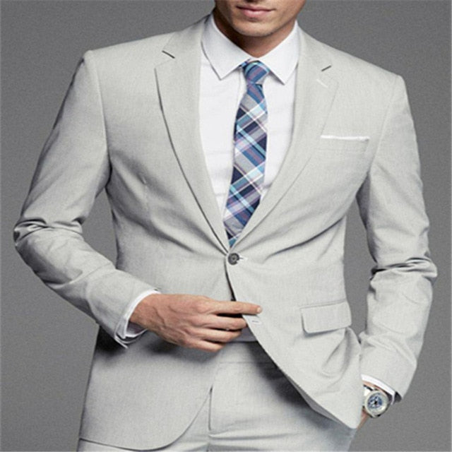 New Men's Suit Cotton