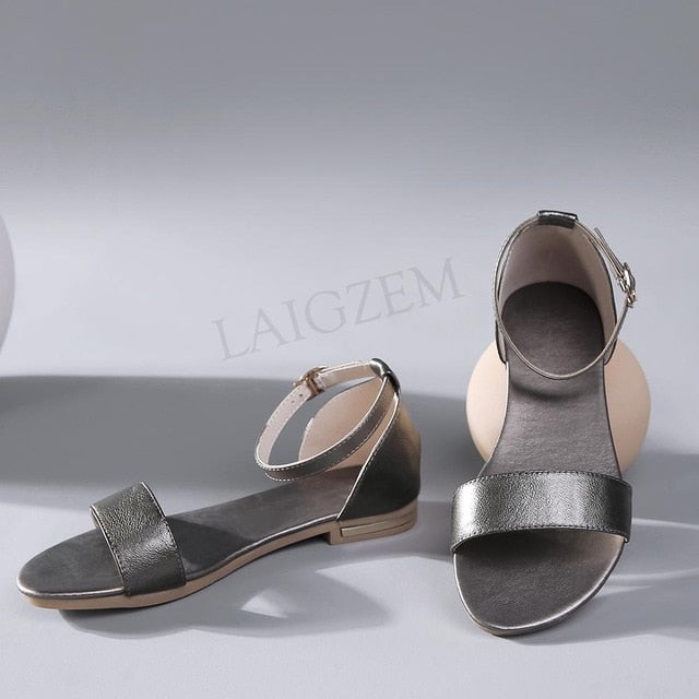 Sandals Flat LEATHER