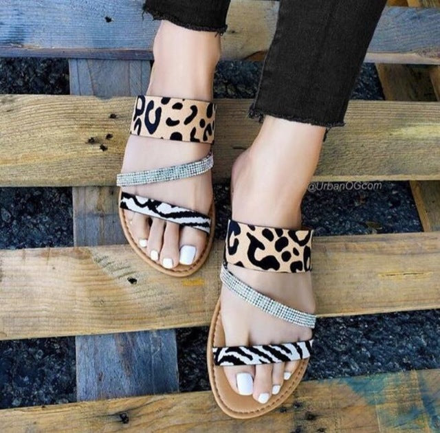 Leopard Slippers Women