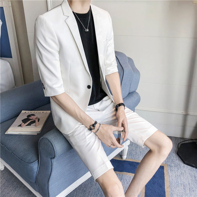 Summer Suit Jacket with Short Pant