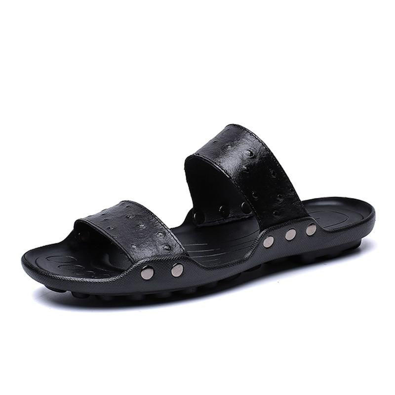Leather Slippers Men