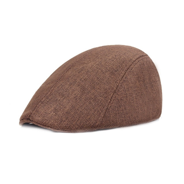 2020 Autumn Beret Caps Men Women Vintage News Boy Cap Cabbie Gatsby Linen Outdoor Hats Brand Sun Hat Unisex Duckbill Caps Linen