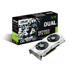 ASUS GeForce GTX 1060 6GB Dual-fan OC Edition VR Ready Dual HDMI DP 1.4 Gaming GPU
