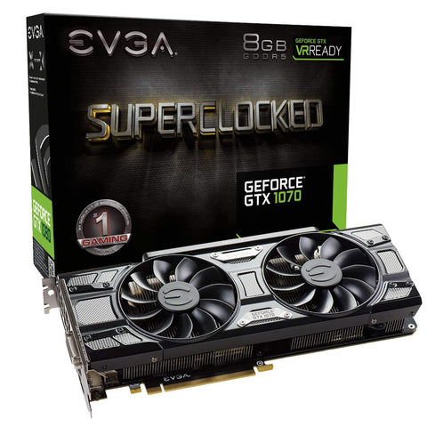 EVGA GeForce GTX 1070 SC GAMING ACX 3.0 Black Edition, 8GB GDDR5, LED, DX12 OSD Support (PXOC)