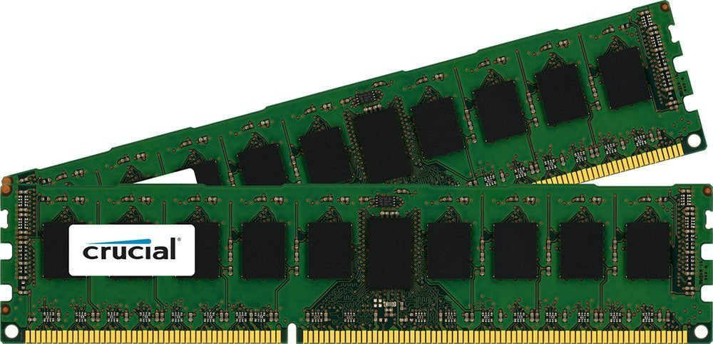 Crucial 16GB Kit (8GBx2) DDR3L 1600MT/s (PC3-12800) ECC UDIMM 240-Pin Server Memory