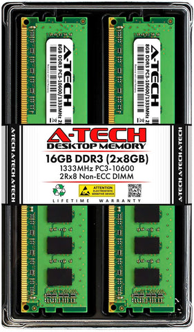 A-TECH 16GB (2x8GB) DDR3 PC3-10600 DIMM / 1333MHz 1.5V
