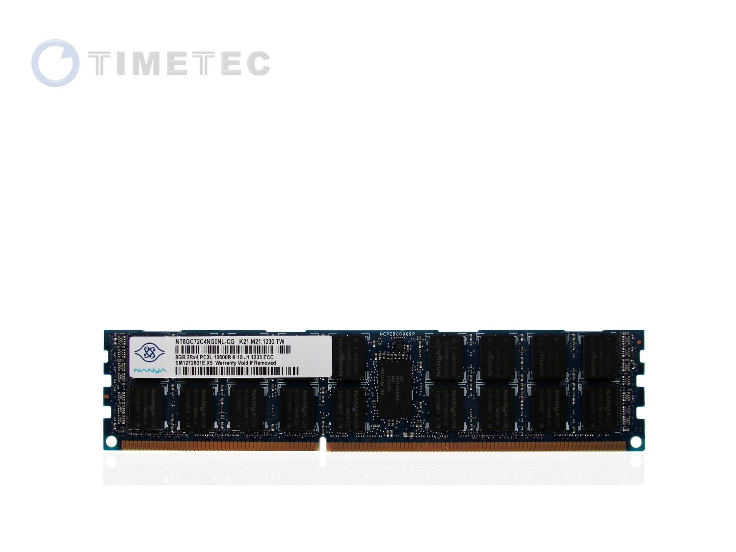 Nanya - 8GB DDR3 1333 (PC3-10600) Dual Rank SDRAM ECC Server Memory RAM